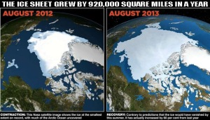 Arctic ice shelf growth